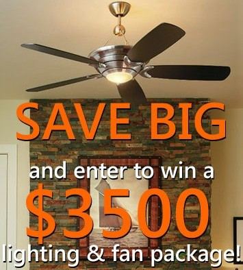 Up to 30% OFF around the store and win a Free Lighting and Fan Package