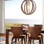 Light Fixture Round and Wooden