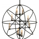 Hanging Sphere Light Fixture Bronze