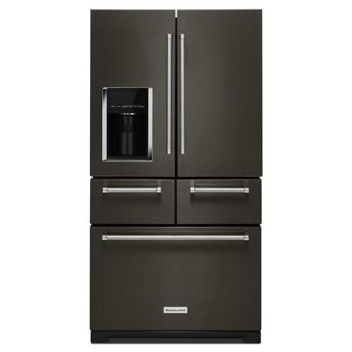 25.8CF Multi Door Refrigerator 5 Door Configuration Preserva® Food Care  System Herb Storage 2 Soft Close Drawers