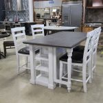 White Rectangle Kitchen Table with Chairs