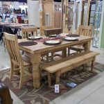 Rectangle Wood Kitchen Table and Bench