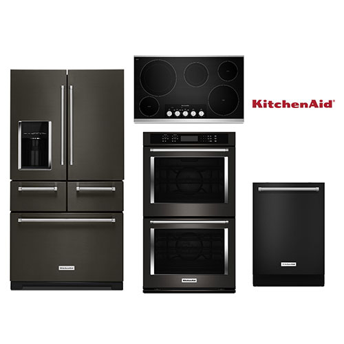 Superbe Kitchenaid Black Stainless Package