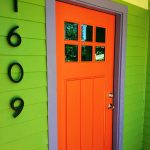 Smooth Fiberglass Craftsman Exterior Door